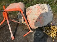 Belle cement mixer&stand in gwo with extras