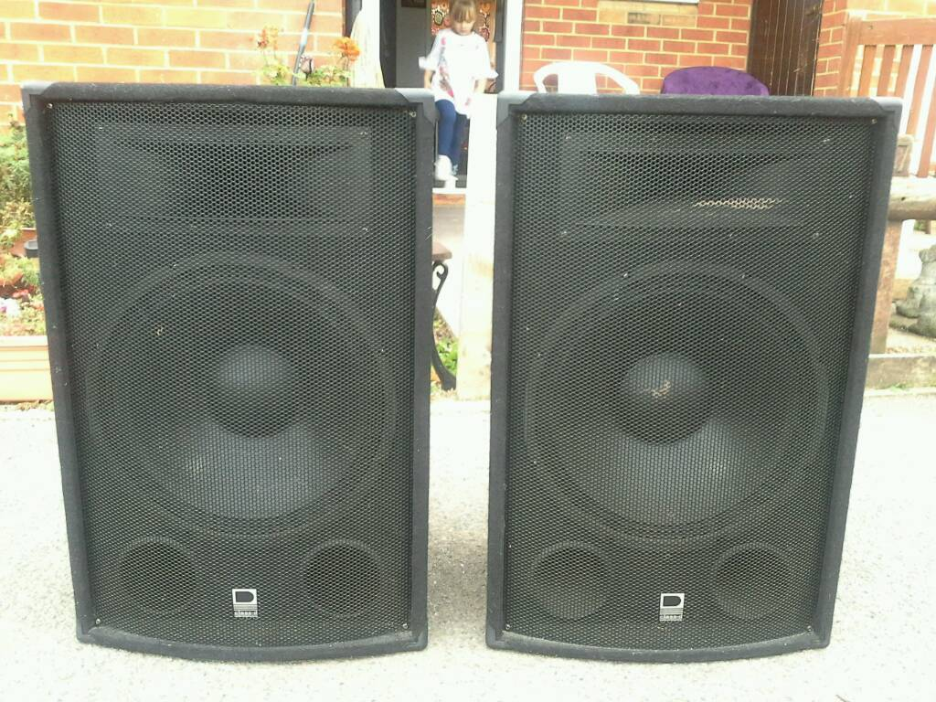 Class d 15 inch speakers 800w with 800w amplfifer and all leads