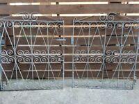 Pair of galvanised metal driveway gates
