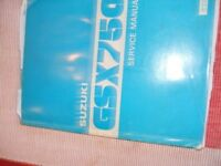 Suzuki GSX750 Genuine workshop manual
