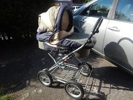Pram Pushchair Carrycot Implast Europa LUX (3 in 1)