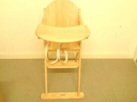 Wooden folding highchair new unused