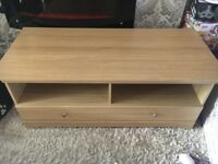 Real oak tv unit with draws. Very good condition