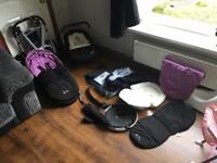 Silver cross surf pram + car seat + accesories