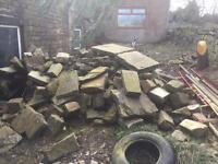 Approx 4-5tonne of dry stone walking stone buyer to collect
