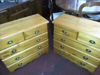 Pine Chest of Drawers (PAIR)