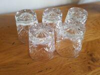 5 crystal glasses ( Edinburgh crystal)