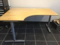 Large corner desk and filing cabinet - good condition