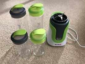 Breville Blend active personal smoothie maker with 4 bottles
