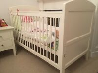 M&S 'Ruby white' Cot Bed. Immaculate Condition