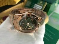 Rolex Day Date Everose Gold Green Roman Numerals Dial
