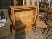 modern solid oak bookcase in yeovil
