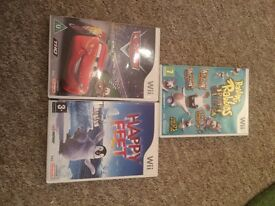 3 Wii games: Cars, Happy Feet and Rayman Raving Rabids party