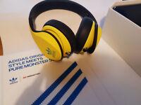 Adidas Originals by Monster Headphones - Yellow/Green/Black - FREE BAG
