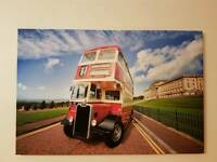 20 in x 30 in old belfast bus at stormont canvas print