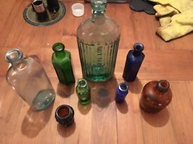 Old Vintage Poison Bottles
