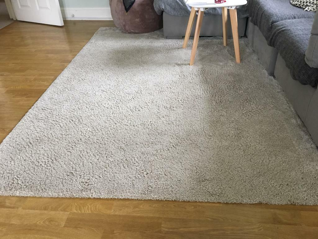 Adum Ikea Rug High Pile Off White