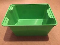 Green Ikea plastic tub