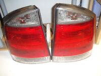 VAUXHALL VECTRA C L/H, R/H SMOKED REAR BACK LIGHTS GM13157646 2002-2008