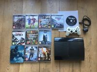 PS3 Super Slim 500GB Bundle, Controller AND 11 Games