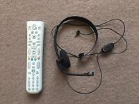 Xbox 360 media remote and headset