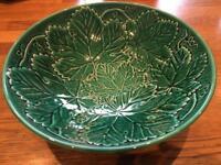 Wedgwood Majolica Cabbage leaf design bowl