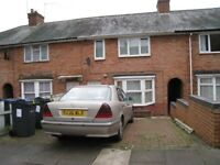 Yardley. 3 bed house to rent with double glazing, central heating, drive & conservatory etc