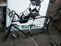 Vintage tandem bicycle ideal project needs restoration hence £60