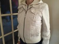 GIPSY Genuine Cream Leather Ladies Bike Jacket, size S