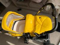 2MONTHS OLD Silvercross pioneer pram and accessories