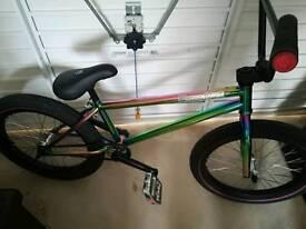 """Fully Custom Neochrome 20"""" BMX Bike Never Ridden"""