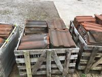 Roof tiles a large selection of single and double Roman tiles