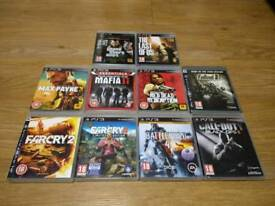 PS3 PlayStation 3 TEN TOP TITLES GAMES BUNDLE B Rated PG18 UK Delivery