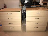 2 Beech drawers for sale as pair