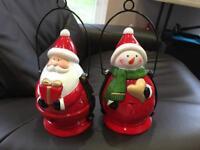 Christmas tealight lanterns