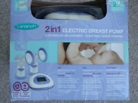 Lansinoh electric double breast pump in excellent condition and original box