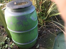 Green waterbutt and lid