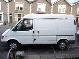 FORD TRANSIT 80 SWB Panel Van, 1999, 2496 (cc), SMILEY / BANNANA ENGINE / SEMI HIGH TOP