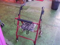 MOBILITY 4 WHEEL WALKER WITH SEAT