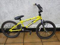Kids yellow and black Raleigh Burner BMX