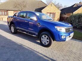 "2013 Ford Ranger 2.2 Limited 4X4 - Performance Blue, 17""Alloys, Sportslid, 26k"