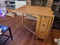IKEA Norden extendable table with storage