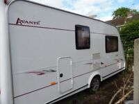 Elldis Avante 475 Caravan 2/4 Berth 16ft. Awning, shower, fridge and oven.vgood condition