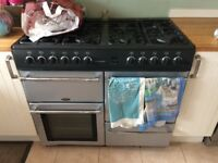 Belling Range Cooker 8 x gas hobs, 2 x Electric Oven