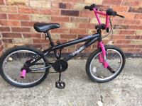 """Apollo Awsome BMX Bike 10"""" Frame 20"""" wheels in Black Foot pegs Can Deliver Local York Free"""