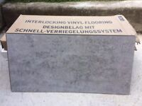 Polyflor Camaro Loc Grey Flagstone Vinyl Floor Tiles - four boxes