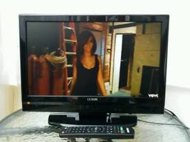 """19"""" LUXOR LCD BUILT-IN DIGITAL FREEVIEW AND DVD PLAYER"""