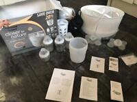 Tommee Tippee starter kit, steriliser, bottles and accessories most parts new and sealed