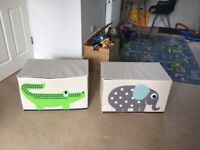 Three sprouts toy storage chests - lightly used