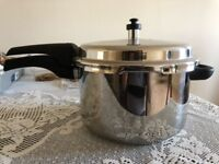 Pressure Cooker - Prestige Deluxe Stainless Steel Pressure Cooker, 6.5 Liters Brand New